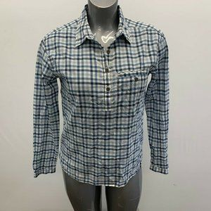 The North Face Women's Blouse Size Small Blue Whit